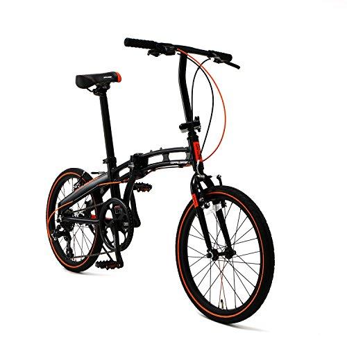 DOPPELGANGER(ドッペルギャンガー) 【 Blackmax シリーズ 】 20インチ 折りたたみ自転車 シマノ7段変速 アルミフレーム ミニベロ 2018年モデル 202-S-DP