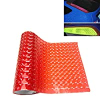 YPshell 3D効果キャットアイ車ヘッドライトフィルムテールライトビニールフィルム、サイズ:30cm x 100cm 兼用 保護フィルム (色 : Red)