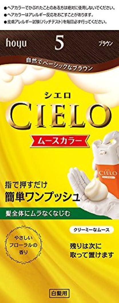 分泌するクールチェスホーユー シエロ ムースカラー 5 (ブラウン) 1剤50g+2剤50g [医薬部外品]