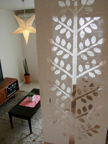 RoomClip商品情報 - SunnyDayFabric アクセントカーテン ツリー 北欧 間仕切り キャメル 約65cm幅×175cm丈