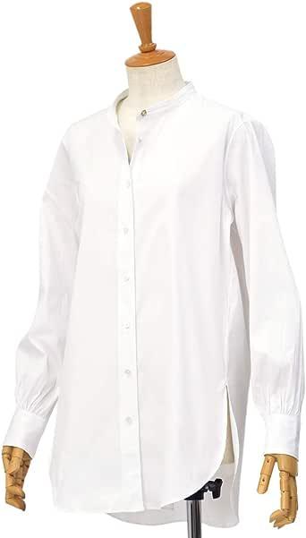 [Bagutta【バグッタ】]バンドカラーシャツ G_LERA CN0672 001 コットン ナイロン ホワイト(S)