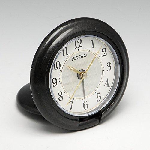 SEIKO CLOCK (セイコークロック) 目覚まし時計 トラベラ アナログ 黒 QQ637K