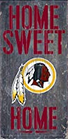 Fan Creations - Washington Redskins Wood Sign - Home Sweet Home 15cm x 30cm