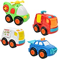 jewby 4pcベビーギフト幼児慣性キュート動物designtoyの0 – 6年の車Kids Randonカラー