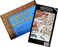 Pilgrim's Map of the Holy Land & Panoramic Map of Jerusalem Set for Bible Students [並行輸入品]