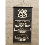 オールド アメリカン タペストリー Route66 ルート66 アメリカ 雑貨 アメリカン雑貨 旗 インテリア ヴィンテージ風 世田谷ベース グッズ