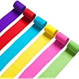 Crepe Paper Streamers for Birthday Wedding Party Decoration Colors 12 Pcs [並行輸入品]