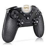 「2019最新版 NFC機能」Switch コントローラー 連射機能搭載 ワイヤレス スイッチ Bluetooth 接続 ジャイロセンサー機能搭載 デュアルショック HD振動 連射機能 レベル調整可能 任天堂 ゲームパッド プロコン