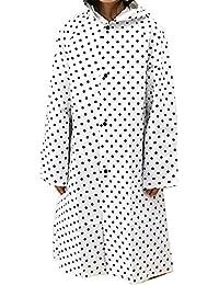 キッズ レインコート ドット柄 ホワイト M & Lサイズ 収納巾着付き 日本製 身長140~150cm(L)