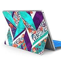 Surface pro6 pro2017 pro4 専用スキンシール サーフェス ノートブック ノートパソコン カバー ケース フィルム ステッカー アクセサリー 保護 花 ユニーク 柄 014024
