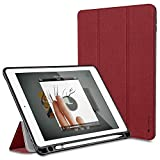 Oittm iPad Pro 9.7 ケースPU 手帳型カバー 三つ折タイプ 傷つけ防止 防塵 スタンド機能 スマート Apple iPad Pro case 12.9 9.7 (iPad Pro 9.7, レッド)