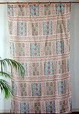 カーテン 間仕切り インド綿 アジアン花と象柄 エレファントガーデン 丈180×幅110cm e_curtain_105