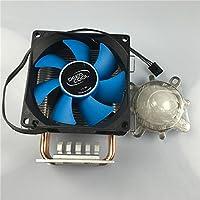 LED世界ヒートシンク銅パイプ熱冷却ファン+ 44mmレンズキット90度for 10–100WハイパワーLED