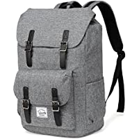 School Backpack,Vaschy Water Resistant Drawstring Laptop Backpack Women for 15.6 inch Laptop Charcoal Grey
