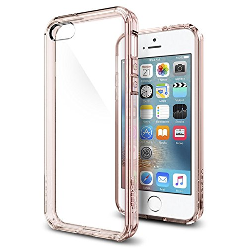 【Spigen】 iPhone SE ケース, ウルトラ・ハイブリッド [ 米軍MIL規格取得 落下 衝撃吸収 ] [ クリア バンパー ] アイフォン se / 5s / 5 用 カバー (ローズ・クリスタル) …