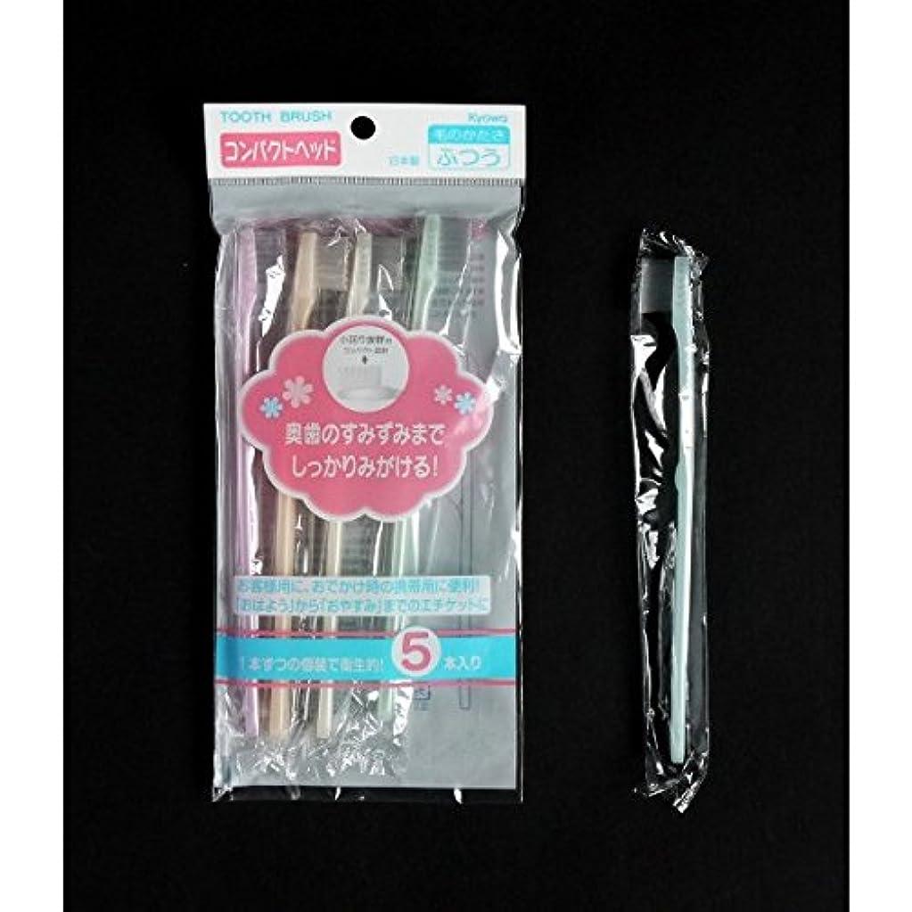 液化する教養がある指定歯ブラシ ふつう コンパクトヘッド 5本入