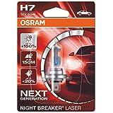 OSRAM 64210NL-01B Night Breaker Laser H7, Next Generation, 150% More Brightness, Halogen Headlamp, 12V, Passenger Car, Single Blister, Set of 1