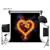Gesen 1010ft Burning Heartシームレスなビニール写真背景写真背景Studio Props gesen8