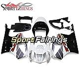 Sportfairings外装部品セット適応フィットABSプラスチックHonda VTR1000 RC51 2000 2006 01 02 03 04 05圧縮フェアリングハルカバー銀赤黒白い