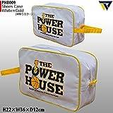 POWER HOUSE パワーハウス シューズケース PHB009 (ホワイト/ゴールド)