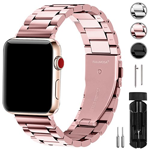 Fullmosa コンパチ Apple Watch バンド42mm/44mm ステンレス, アップルウォッチバンド apple watch series4 3 2 1 バンド iwatch交換バンド ステンレス ローズゴールド 42mm/44mm