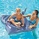 膨脹可能なサメの浮遊列、子供のために適した水ラウンジチェアの浮遊ベッド、夏の屋外浜党水催し物のおもちゃ