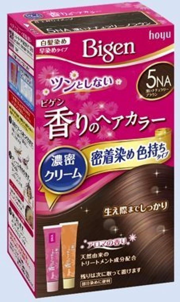 矛盾満了またはどちらかビゲン 香りのヘアカラー クリーム 5NA 深いナチュラリーブラウン × 10個セット