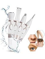 OFTENレディース シェーバー 鼻毛カッター 多機能 顔や眉毛や耳毛シェーバー ムダ毛の処理 1台4役 電池式 水洗いOK 携帯便利 全身用脱毛器