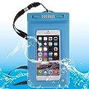 IPhone 6&6s Samsung S6 / Note 4 / Note 3 / Note 2などのためのSOCOOLE WPC-007スポンジフローティングユニバーサルIP 67防水バッグ6.0インチ以下のスマートフォンすべて IPX 8認定 L Y (色 : 青)