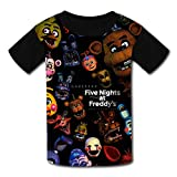 スタイリッシュな半袖Five Nights Bear At Freddy'sはワンマンデザインの子供Tシャツ,M