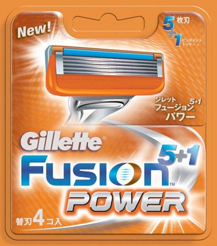 ジレットフュージョンパワー 替刃4個入り / ジレット