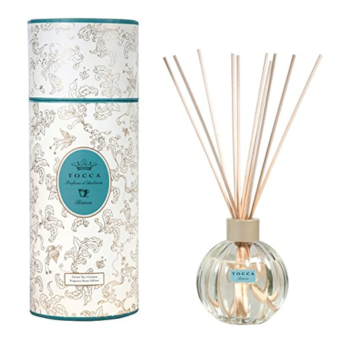 枯れる遠い生じるトッカ(TOCCA) リードディフューザー ビアンカの香り 175ml 3~4ヶ月持続(芳香剤 ルームフレグランス シトラスとグリーンティー、ローズが絶妙に溶け合ったほのかに甘さ漂うフレッシュな香り)