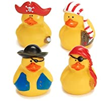 Lot Of 24 Pirate Rubber Ducks - Party Favor Duckys Gifts - Cake Toppers [並行輸入品]