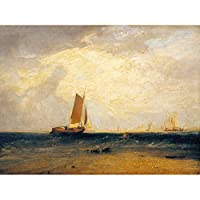 Turner Fishing Upon The Blythe Sand Tide Setting In Art Print Canvas Premium Wall Decor Poster Mural 釣り砂壁デコポスター