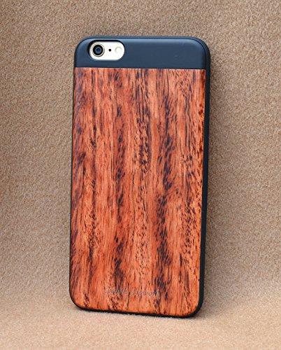 【より薄く、より軽く、より丈夫に】【Zenith Art-Jacket】iPhone 6/6S 最高級木製ハイブリッドケース 【Zenith Artwork】 (iPhone6/6S, 花梨)