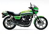 絵画風 壁紙ポスター (はがせるシール式) カワサキ Z1000R ローソンレプリカ スーパーバイク キャラクロ KZRR-001A1 (A1版 830mm×585mm) 建築用壁紙+耐候性塗料