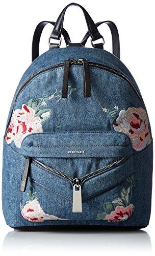 (ディーゼル) DIESEL レディース フラワー刺繍 デニム バックパック LE-ZIPPER LE-ONY - backpack X04846P1374 T6023 UNI