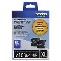 """Brother元、2- Pack高イールドブラックインクカートリッジfor DCP j152、MFC j245、j285、j450、j470、j475、j650、j6520、j6720、j6920、j870、j875""""製品カテゴリ: Supplies &アクセサリー/プリンタ消耗品"""""""