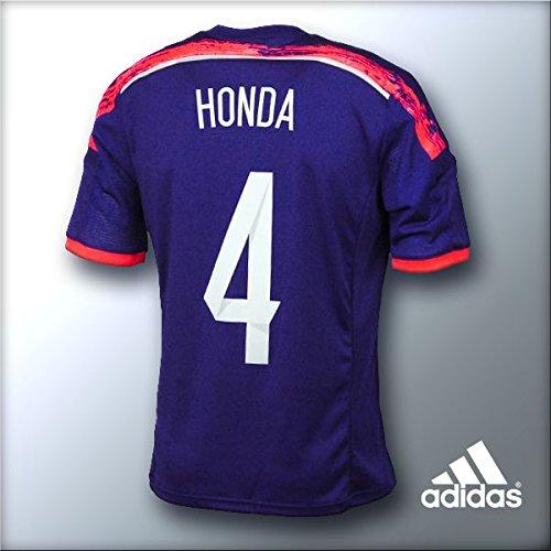 サッカー 日本代表 番号あり レプリカユニフォーム ホーム 品番:AD654 G85287 (L, 番号4:本田)