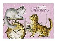 フランス製 キャットポストカード (Paris Rendeg-vous) CPK063