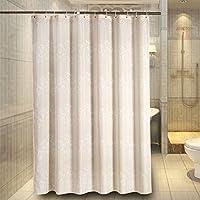 $シャワーカーテン 浴室のポリエステル布のシャワーカーテン、防水厚いカビの環境保護ホテルのシャワーカーテン ( 色 : A , サイズ さいず : 200W*200H/CM+ring )