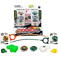 Beyblade Metal Fusion 2 Pack Solid Iron Showdown Thermal Lacerta and Thunder Leone