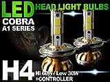 【送料無料 保証付】日産 クルー(K30) シーマ(F50) ジューク(F15) スカイラインGT-R(BNR32) セレナ(C24 C25) ヘッドライト用 H4 LEDバルブ CANVASキャンセラー内臓 COBRA製