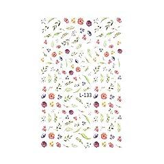 【L-133】ヴィンテージボタニカルシール 花 フラワー ネイルシール