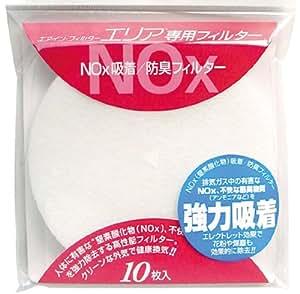 ブレスト 給気口用フィルター・エリア 専用NOx吸着/防臭フィルター10枚入 FN10