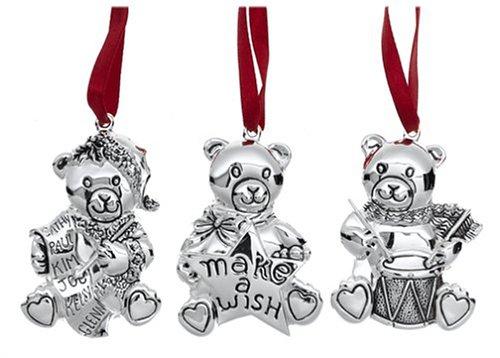Gorham Bear Ornaments ,セットof 3...