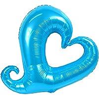 【誕生日】【風船】 オープンハートバルーン ハッピーバースデー パーティー用 パーディーバルーン 【アルミ風船】 (ブルー)