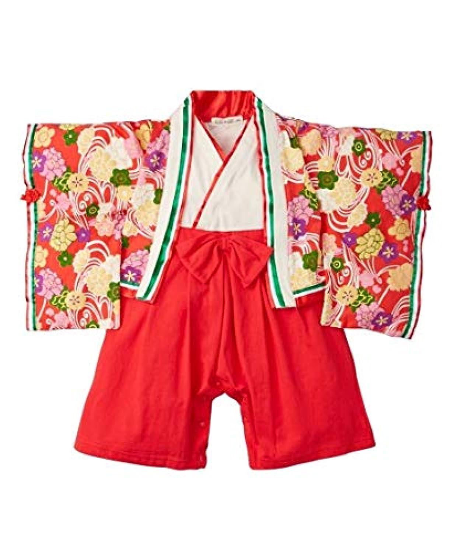 [nissen(ニッセン)] 十二単衣風 カバー オール 女の子 子供服 ベビー 服 ベビー 女の子 赤 90