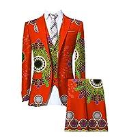 AGAING 男性小ブレザープラスサイズアフリカプリントダシキフィットビジネススーツ Nine S