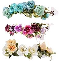 Baoblaze 3個 フラワー 花冠 ヘッドバンド 子供 フラワーガーランド アクセサリー